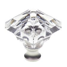 Crystal Cabinet Knob Cal Crystal M995 1 1 4 Square Crystal Cabinet Knob