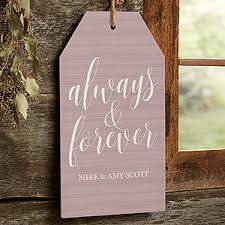 personalized wall art wood tag always forever 19192 on personalized wall art wood with personalized wall art wood tag always forever