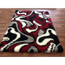 red black and grey area rugs beautiful lola hand tufted gray fred black and red area