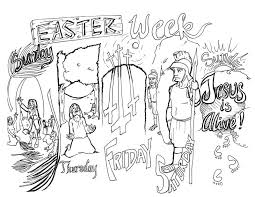 This is an awesome printable! Easter Week Bible Coloring Page