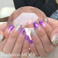 ミラーパープルネイル Nail Salon Moca伊勢市ネイルサロン