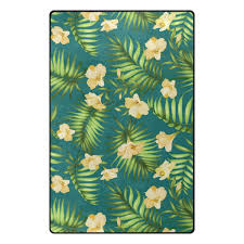 green hibiscus flower rug outdoor and indoor tropical area rugs
