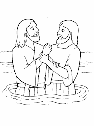 Small Picture Baptism Coloring Page creativemoveme