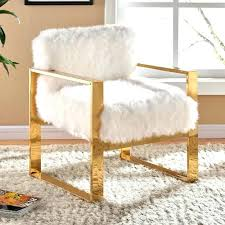white fur chair faux desk cover furry fuzzy fantastic furniture decal gold lamp target
