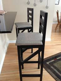 Patterned Bar Stools Awesome Black Wooden Bar Stool With Back And Patterned Seat Cover On