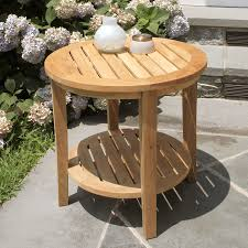 seneca round side table