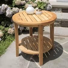 seneca round side table