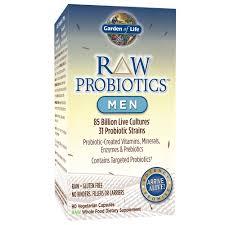 com garden of life raw probiotics men acidophilus and bifidobacteria probiotic created vitamins minerals enzymes and prebiotics gluten and