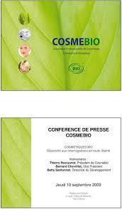 Cosmetique Bio Charte Cosmebio