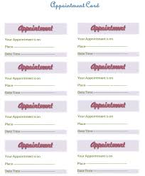 Word Cards Templates Appointment Card Template Templates For Microsoft Word