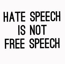 Image result for hate speech is not free speech