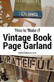 vine book page garland made from dictionary pages book page artbook pagesbook page garlandcraft bookscool ideasvine booksreuseupcycle repurposing