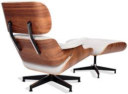 eames chair leather. Ivory (Pure Leather) / American Walnut Black Base Eames Chair Leather N