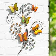 colourful 3d erfly flowers wall