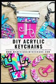 Key Cutting Designs Diy Acrylic Key Chain With Adhesive Vinyl Cricut Projects