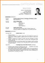 Curriculum Vitae Format New British Cv Formatexample Of European Curriculum Vitae Formatjpg