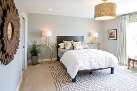 ... Contemporary Bedroom With Stylish Gold Nightstands And Table Lamps  [Design: Lady Of The HOUSE