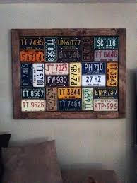 >50 bachelor pad wall art design ideas for men cool visual decor bachelor pad wall art framed vintage license plates