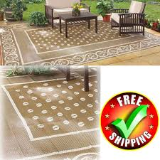 rv patio mat 4x6 reversible area rug trailer outdoor camping accessories for