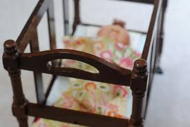 homemade doll furniture. DIY Doll Crib From A Thrift Store Magazine Rack (doll Furniture) Homemade Furniture