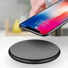 Đĩa sạc không dây Qi Wireless Charger Cho iPhone X XR XS MAX 8 Plus Samsung  Note 8 5 S8 S7 S6 Edge -dc3848 - Đế sạc không dây Nhãn hàng No Brand
