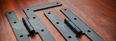 When the cabinet door is closed, such hinges are still visible. Black Iron Hinges Wrought Iron Hinges Hand Forged Horton Brasses Inc