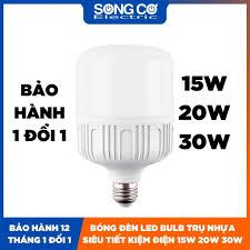 BH 12 Tháng] Bóng Đèn LED Trụ Tròn 15W 20W 30W Tiết Kiệm Điện Đèn LED Bulb  Trụ Nhựa Cao Cấp Tản Nhiệt Tốt Không Nóng chính hãng 21,000đ