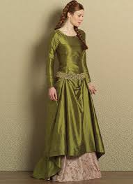 Medieval Dress Patterns Fascinating B48 FloorLength Gored Dress And Skirt With Belt Sewing Pattern