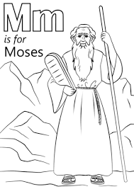 Letter M Is For Moses Coloring Page Free Printable Coloring Pages