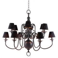 Casa Padrino Luxus Kronleuchter Gunmetal Finish 12 Armig Barock Restaurant Hotel Lampe Leuchte Austauschbare Lampenschirme