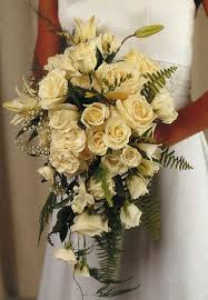 John Henry Floral Design Books Modern Teardrop Bouquet Of White Roses Freesia Lily And