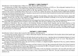 Obituary Template For Microsoft Word Free Download Salonbeautyform Com