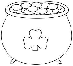 Small Picture Pot of gold pattern for St Patricks Day Use the printable