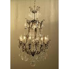 cannes crystal drop 10 arm chandelier