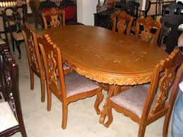 permalink to stylish teak wood dining table designs gallery