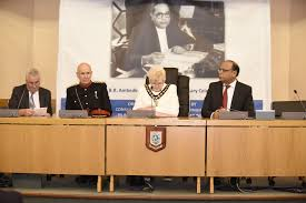 celebrations of 125th birth anniversary of dr b r ambedkar the copies of book ambedkar speaks containing speeches of baba saheb were presented to the dignitaries by consul general