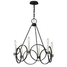 juliette 6 light country iron chandelier
