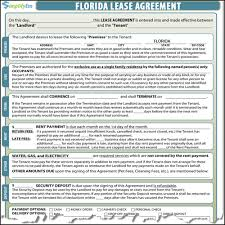 lease contract template florida lease contract
