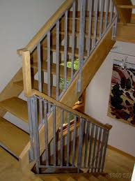 Image of: Stairway Railing Gray  Outstanding Interior Stair Handrail Ideas  ...