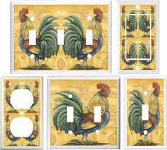 Rooster Kitchen Decor Tuscan Country Rooster Kitchen Decor Light Switch Or Outlet Cover