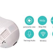Senarai Harga 360 Degree Panorama Video Camera Wifi Ip Light Bulb