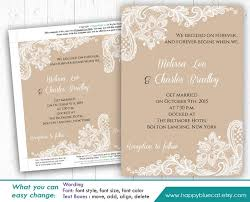 Easy Invitation Templates Diy Printable Wedding Invitation Template Instant Download