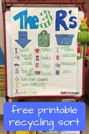 Free Printable Recycling Sort Used 3 Ways Recycling For