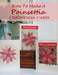Poinsettia Card How To Make A Poinsettia Christmas Card Without Any Special