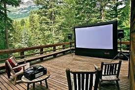 outdoor projector 2 outside tv projection screens retractable tips using outdoors summer months outdoor enclosure outside tv projector