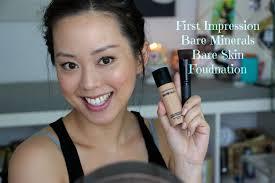 bareminerals bare skin foundation first impression
