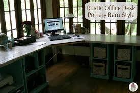 rustic office desk diy blueprints54 blueprints