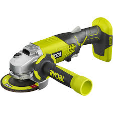 cordless grinder. about ryobi one+ 18v 115mm cordless angle grinder - skin only