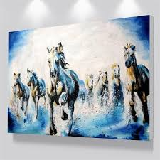 Cheap Horse Posters Running Horse Painting Wall Art Peinture Chevaux In 2019