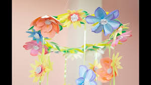 Paper Flower Mobiles How To Make A Handpainted Paper Flower Mobile